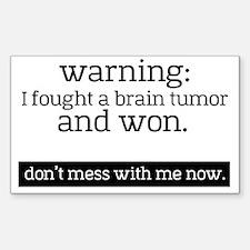 Cool Brain tumor Sticker (Rectangle)