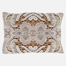 girly hipster vintage white lace Pillow Case