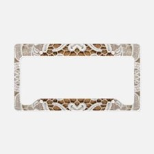 girly hipster vintage white l License Plate Holder