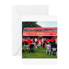 British Bar bus Greeting Cards