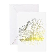 Radiant Mountain Valley Trrees Greeting Cards