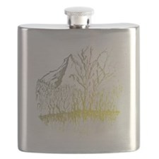 Radiant Mountain Valley Trrees Flask