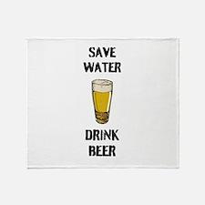 Drink Beer Throw Blanket