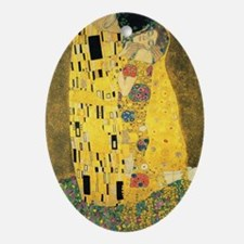 The Kiss - Gustav Klimt Oval Ornament