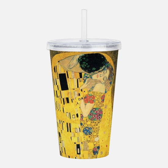 The Kiss - Gustav Klim Acrylic Double-wall Tumbler