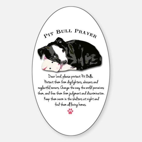 Pit Bull Prayer Decal