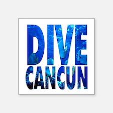 """Unique Cancun Square Sticker 3"""" x 3"""""""