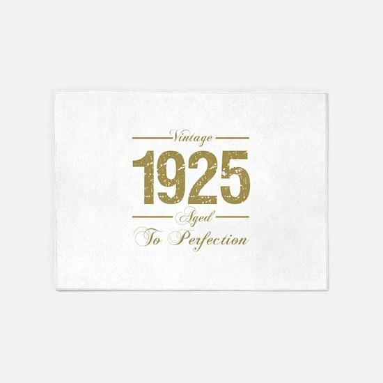 Vintage 1925 Birthday 5'x7'Area Rug