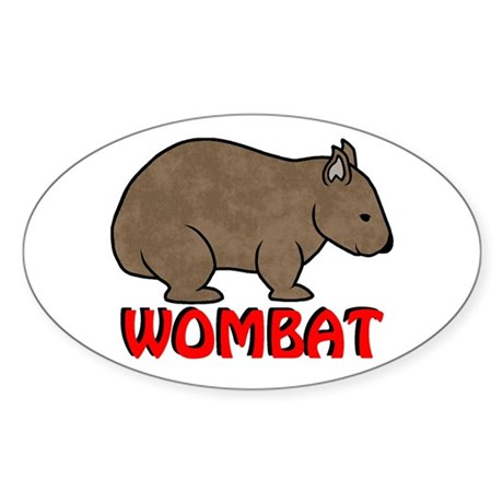 Wombat Logo Oval Sticker