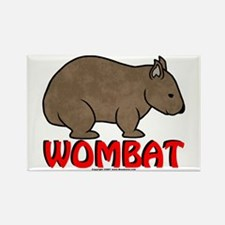 Wombat Logo Rectangle Magnet