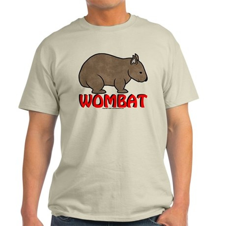 Wombat Logo Tee Shirt Light Colored
