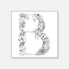 Floral Letter B Sticker