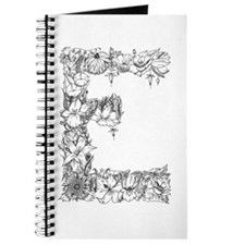 Floral Letter E Journal