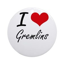 I love Gremlins Round Ornament