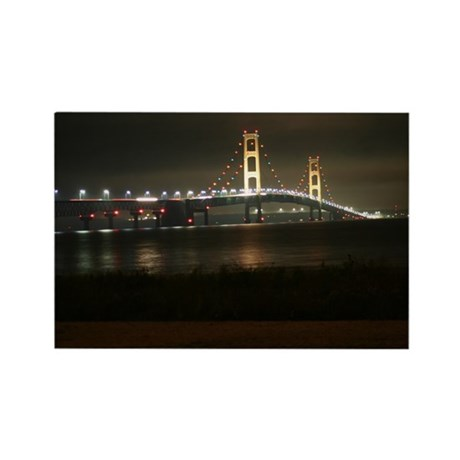 Mighty Mac at Night Magnets