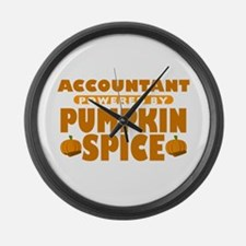 Accountant Powered by Pumpkin Spice Large Wall Clo