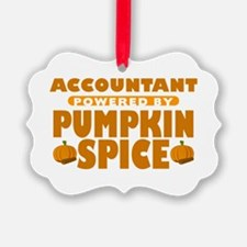 Accountant Powered by Pumpkin Spice Ornament
