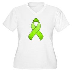 Lime Awareness Ribbon T-Shirt