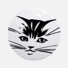 Cat Face Round Ornament