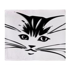 Cat Face Throw Blanket