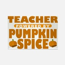 Teacher Powered by Pumpkin Spice Rectangle Magnet