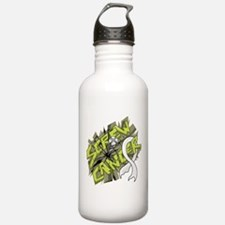-Screw Lung Cancer 4C Water Bottle