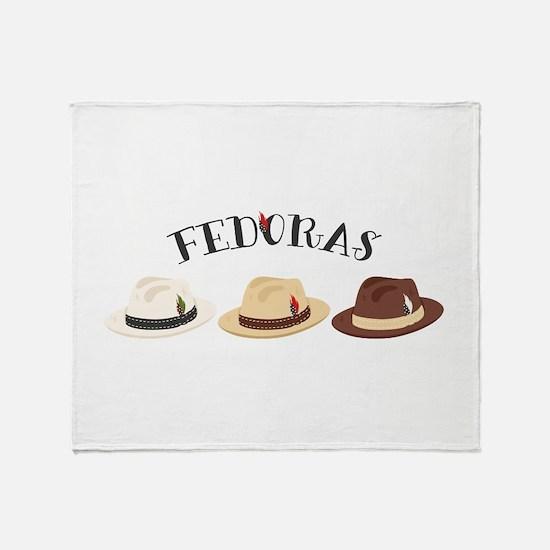 Fedora Hats Throw Blanket