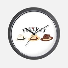 Fedora Hats Wall Clock