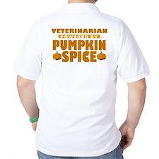 Veterinarian Powered by Pumpkin Spice T-Shirt