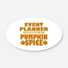 Event Planner Powered by Pumpkin Spice Oval Car Ma