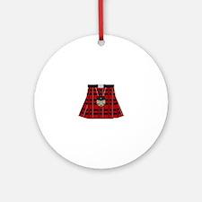 Scottish Kilt Round Ornament