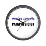 Worlds Greatest PATAPHYSICIST Wall Clock