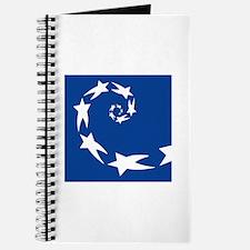 star spiral white dk blue Journal