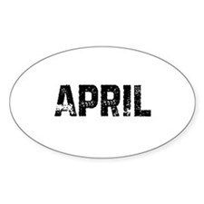 April Oval Decal