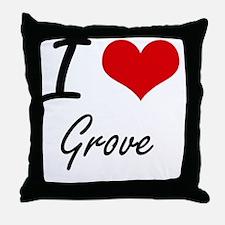 I love Grove Throw Pillow