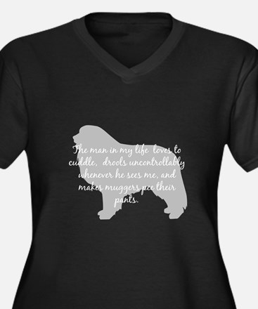Pyr Man in my Life Women's Plus Size V-Neck Dark T