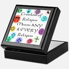 Freedom of Religion Keepsake Box