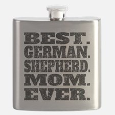 Best German Shepherd Mom Ever Flask