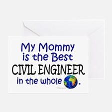 Best Civil Engineer In The World (Mommy) Greeting