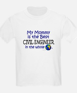 Best Civil Engineer In The World (Mommy) T-Shirt