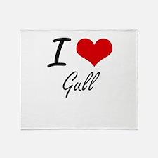 I love Gull Throw Blanket