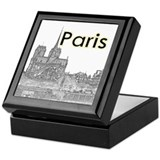 Paris souvenir Keepsake Boxes