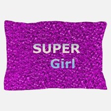 Glitter SUPERGIRL Pillow Case
