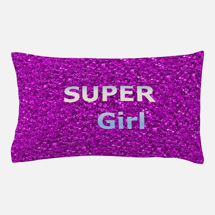 Glitter SUPERGIRL Pillow Case