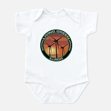 Living Green Illinois Wind Power Infant Bodysuit