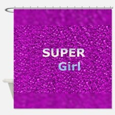 Glitter SUPERGIRL Shower Curtain
