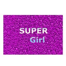 Glitter SUPERGIRL Postcards (Package of 8)