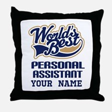 Personal Assistant Personalized Throw Pillow