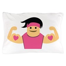 Muscle Woman Pillow Case