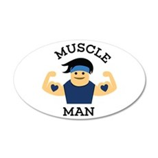 Muscle Man Wall Decal